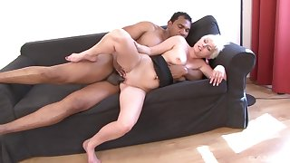 Mature leaves black hunk to fuck her merciless