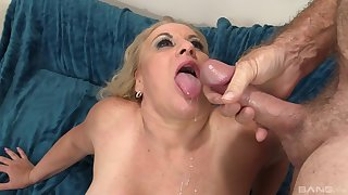 Mature maven Stunning Summer gets a stiff dick in her twat