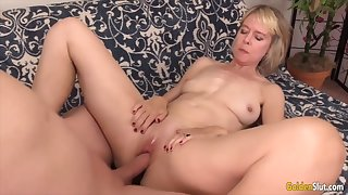 Golden Slut - Missionary Fucking With an Older Woman Compilation