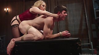 Anal with a dominant MILF in all directions brutal femdom action