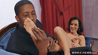 Amazing Lisa Ann appears in interracial foot fetish scene