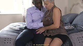 Giant Boob Grandma Prevalent A Cock-Squeezing Labia