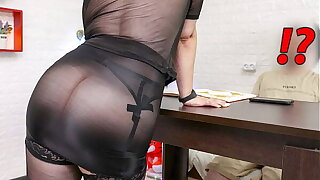 Step Mom Seduce her Son after her Husband go wide Work. XSanyAny