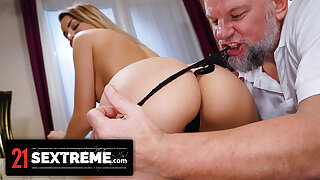 Old Man Craves Cute Brunette's Fresh Pussy