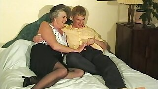 Horny Granny Steph finally gets to taste a young delicious pecker