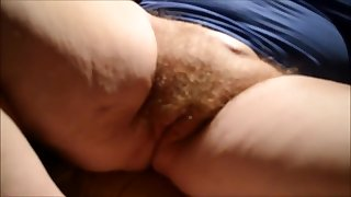 Teasing her Hairy BBW Granny Pussy POV