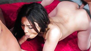 Hottest Japanese girl Sera Ichijo in Fabulous JAV uncensored DP scene