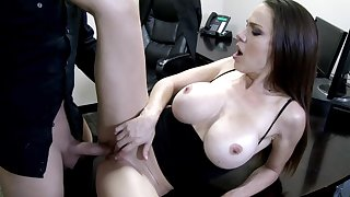 Office milf tries the new guy for a few rounds