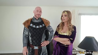 Costumed Britney Amber has awesome fucking skills with the addition of likes province play