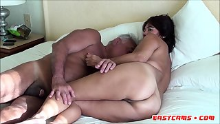 ASIAN WIFE Swell up DADDY COCK