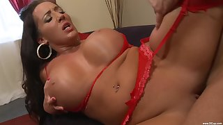 Richelle Ryan wears sexy red underwear be advantageous to seducing and fucking