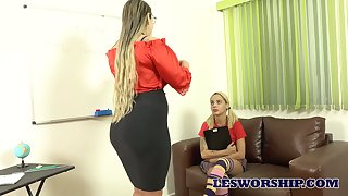 What a hot buxom bore this Brazilian lesbian has together with it needs some loving