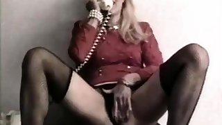 Classy mature stuffing her ass