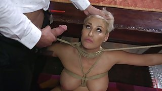 Submissive tied up milf Ryan Keely is fucked and jizzed by one unusual pervert