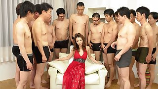 Nagisa Kazami fro Nagisa Kazami is fucked by so many cocks fro a gangbang - AvidolZ