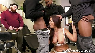 Cuckold is adhering whore become man Syren Demer acquiring fucked apart from black guys