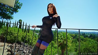 Anal-insane whore Karma Rx gets a mouthful of cum after epic anal enjoyment from