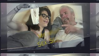 Young loveliness with glasses fucked hardcore by grandpa