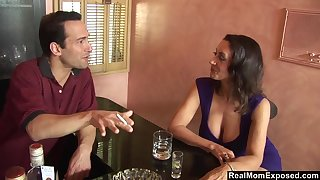A sexual encounter in advance bar with the addition of Persia Monir is one helluva busty woman