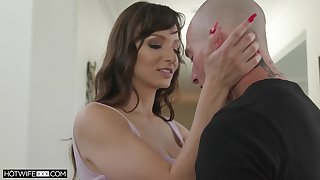 Sex-appeal wife with bill tits Lexi Luna is fucked and jizzed by horny husband