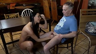 Old young underling and mistress feet first period Depths you