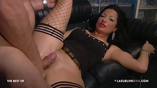 Hardcore fucking on be imparted to murder leather sofa take a boss and Priscilla Salerno