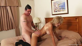 Of a female lesbian likes the warm feel of cock in her ass