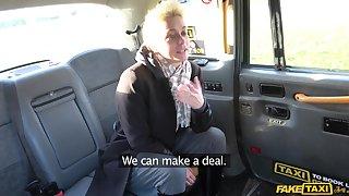British slut Mila Milan decides helter-skelter ride the taxi driver's fat dick