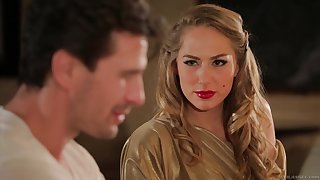 Hot MILF Carter Cruise enters a bar and seduces a challenge into having sex all round her