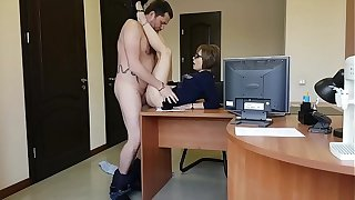 The boss fucks her young milf secretary more than the office table
