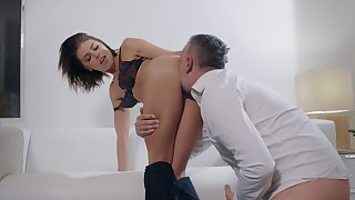 Voluptuous pleasures relative to a devoted to woman hungry for cock