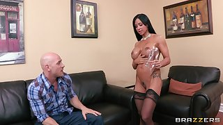 Factious cougar Jewels Jade in all directions stockings riding a log schlong