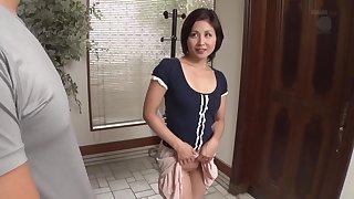 Satsuki Kirioka - OBA-154 The MILF Next Door's No-Panties Temptation