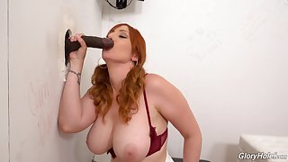 Interracial self-respect aperture action for busty redhead Lauren Phillips